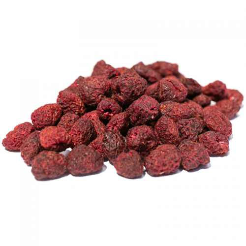 Dried infused raspberries