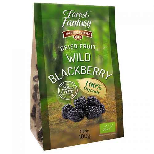 Wild blackberries dried infused organic